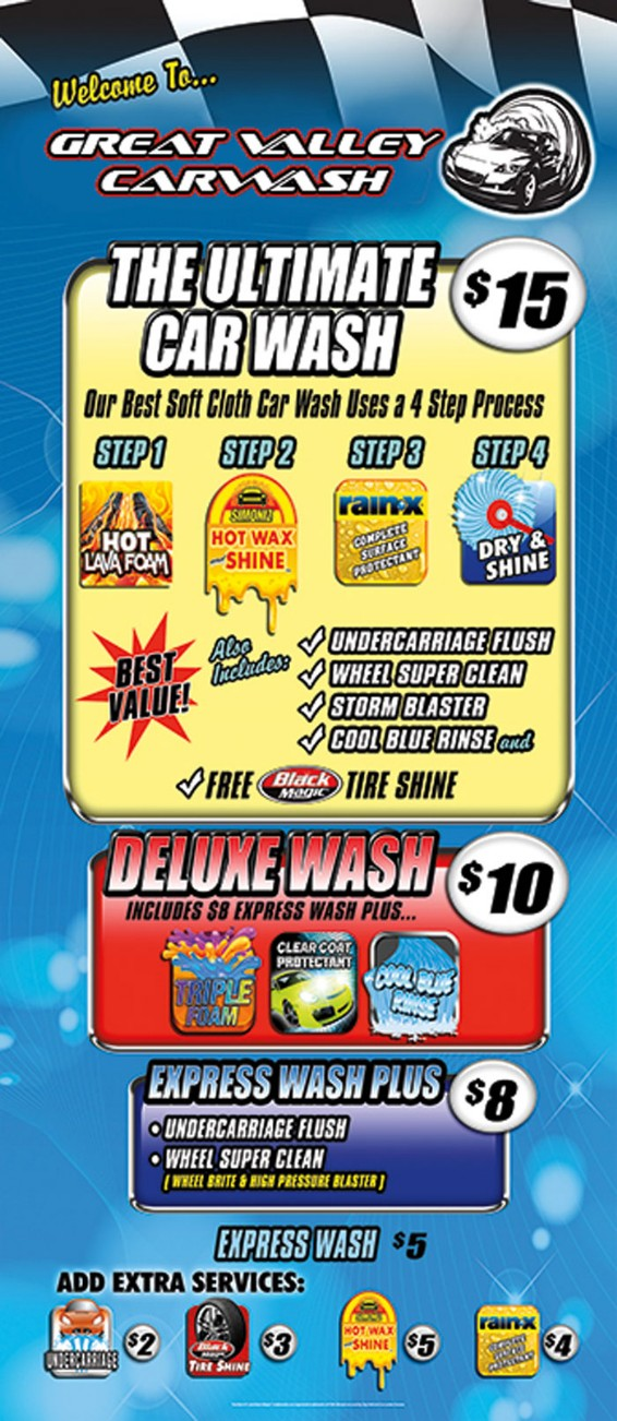 SERVICES & PRICING - Great Valley Car Wash